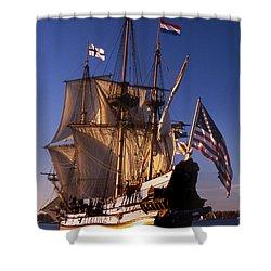 Kalmar Nyckel Shower Curtain by Skip Willits