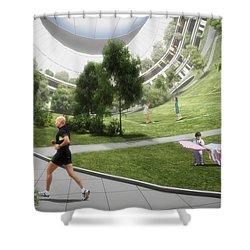 Shower Curtain featuring the digital art Kalpana 2 Recreation by Bryan Versteeg