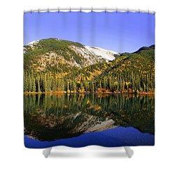 Kananaskis - Autumn Reflections 2 Shower Curtain by Stuart Turnbull