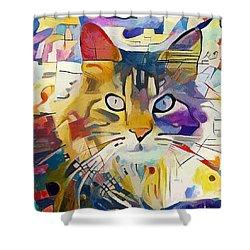Kandinsky Cat Shower Curtain