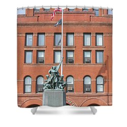 Kane County Courthouse Shower Curtain by David Bearden
