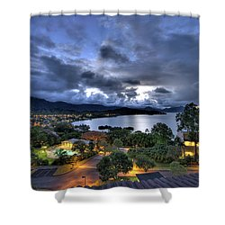 Kaneohe Bay Night Hdr Shower Curtain