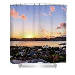 Kaneohe Bay Sunrise 1 Shower Curtain