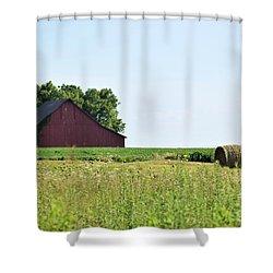 Shower Curtain featuring the photograph Kansas Barn by Mark McReynolds