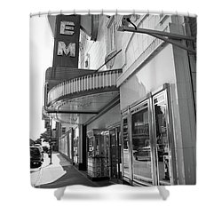Shower Curtain featuring the photograph Kansas City - Gem Theater 2 Bw  by Frank Romeo
