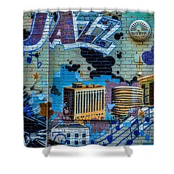 Kansas City Jazz Mural Shower Curtain