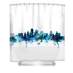 Kansas City Missouri Skyline Shower Curtain