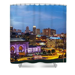 Kansas City Night Sky Shower Curtain