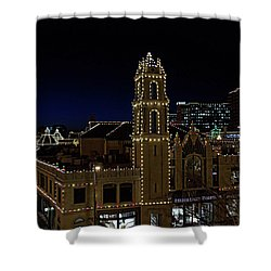 Kansas City Plaza Lights Shower Curtain by Tim McCullough