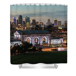 Kansas City Summer Sunset Shower Curtain