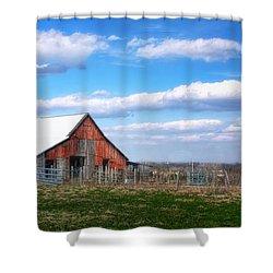 Kansas Farm Shower Curtain by Joan Bertucci