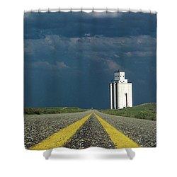 Kansas Grain Elevator Shower Curtain