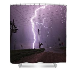 Kansas Lightning Shower Curtain