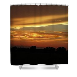 Kansas Summer Sunset Shower Curtain