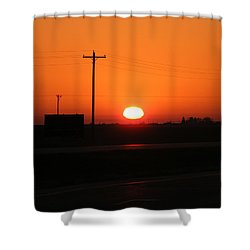 Kansas Sunrise Shower Curtain by Adam Cornelison