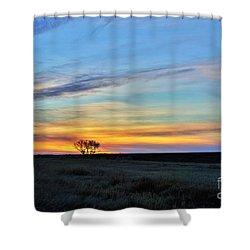 Kansas Sunrise1 Shower Curtain