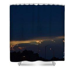 Shower Curtain featuring the photograph Kansas Sunset Angel by Mark McReynolds