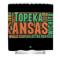 Kansas Word Cloud Map 1 Shower Curtain
