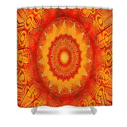 Shower Curtain featuring the digital art Kaoscope by Fine Art By Andrew David