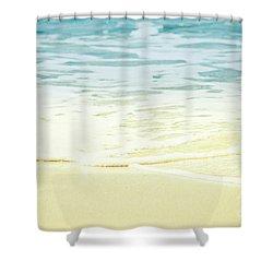 Kapalua Beach Dream Colours Sparkling Golden Sand Seafoam Maui Shower Curtain by Sharon Mau