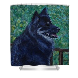 Shower Curtain featuring the painting Kapu by Amelie Simmons