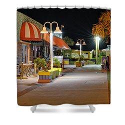 Karaoke On Carolina Beach Boardwalk Shower Curtain