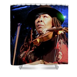 Karen Briggs 2017 Hub City Jazz Festival - Pause Shower Curtain