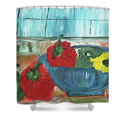 Karens Blue Vase Shower Curtain