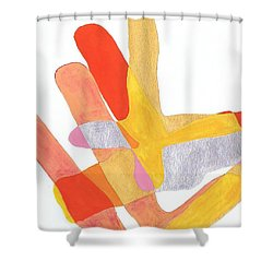 Karlheinz Stockhausen Tribute Falling Shapes Shower Curtain by Dick Sauer