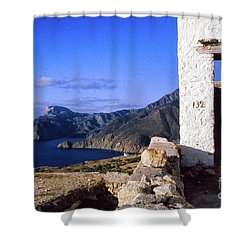 Shower Curtain featuring the photograph Karpathos Island Greece by Silvia Ganora