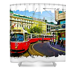 Kartner Strasse - Vienna Shower Curtain