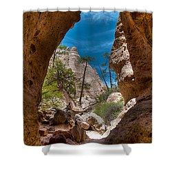 Kasha-katuwe Shower Curtain