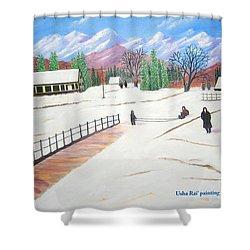Kashmir Shower Curtain by Usha Rai