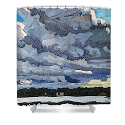 Katabatic Cold Front Shower Curtain by Phil Chadwick