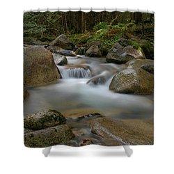 Katahdin Stream Cascades Shower Curtain