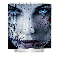 Shower Curtain featuring the mixed media Kate Beckinsale by Marvin Blaine