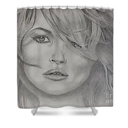 Kate Moss Fashion Model Shower Curtain