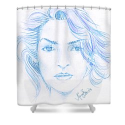 Kate Winslet Shower Curtain by Remy Francis