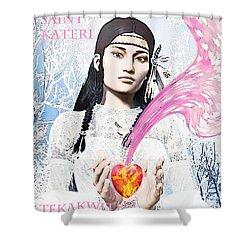 Kateri Tekakwitha Valentine Image Shower Curtain