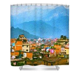 Kathmandu, Nepal Shower Curtain by Chris Armytage