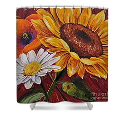 Kathrin's Flowers Shower Curtain
