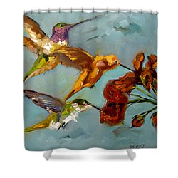 Kathy's Humming Birds Shower Curtain