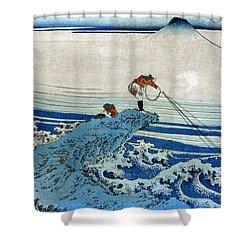Katsushika: Fishing, C1834 Shower Curtain by Granger