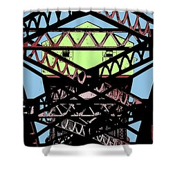 Katy Trail Bridge Shower Curtain