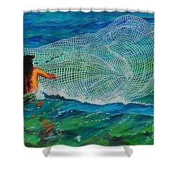 Kauai Fisherman Shower Curtain