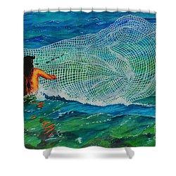 Kauai Fisherman Shower Curtain