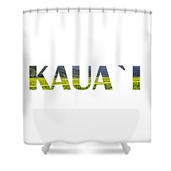 Kauai Letter Art Shower Curtain