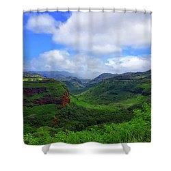 Kauai Mountains Shower Curtain