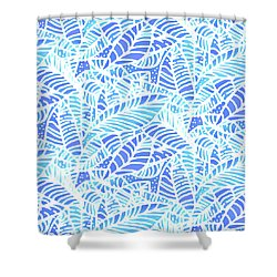 Kaua'i Ocean Leaves Shower Curtain