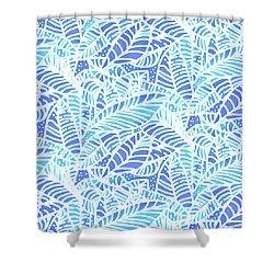 Kaua'i Ocean Leaves Shower Curtain